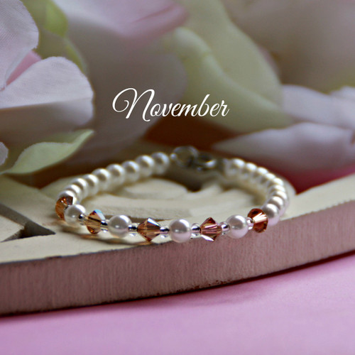 CJ-139  November Birthstone Bracelet 5""