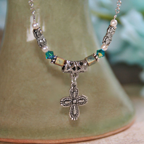 IN-529  Prayer changes Things great colors Necklace
