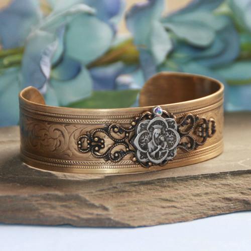ART-141  Mary Vintage Style Cuff Bracelet