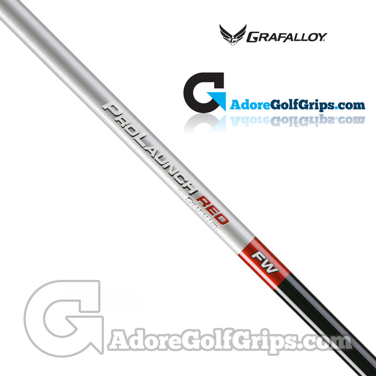"""Grafalloy ProLaunch Red Fairway Wood Shaft (73g-76g) - 0.350"""" Tip - Red / Silver / Black"""