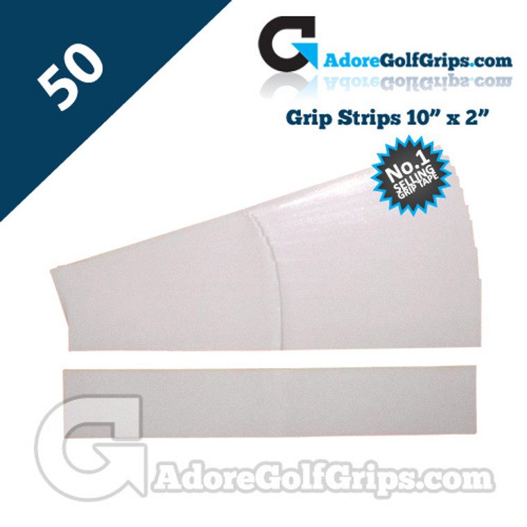 Premium Double Sided Pre-Cut Grip Tape Strips - 50 Pack