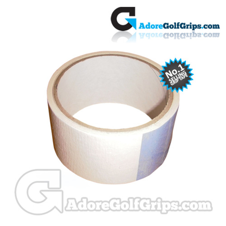 """Premium Double Sided Golf Grip Tape - 2"""" x 3.50 Metre Roll - 14 Clubs"""