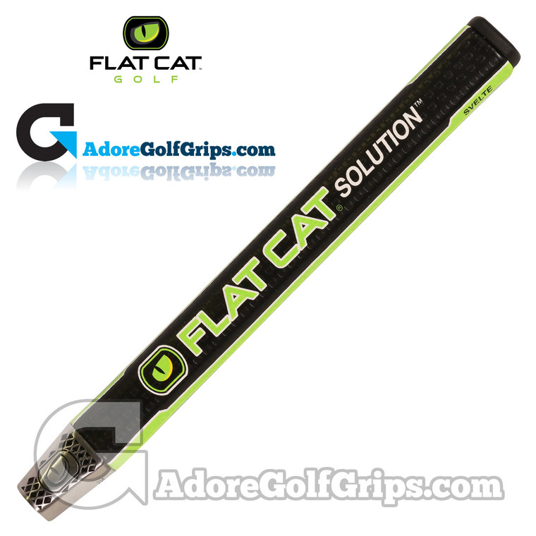 Flat Cat Golf Solution Svelte 12 Inch Midsize Putter Grip - Black / Green / White