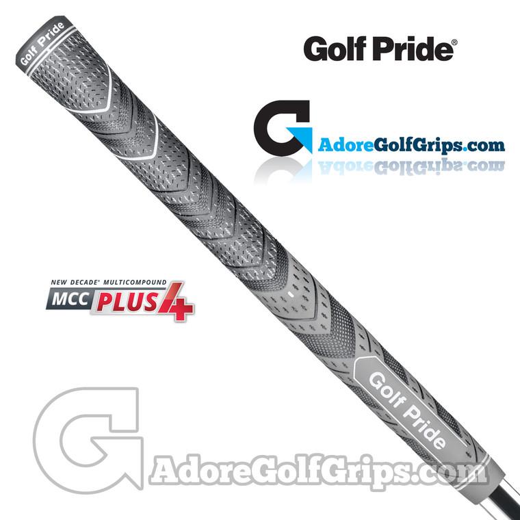 Golf Pride New Decade Multi Compound MCC Plus 4 Jumbo Grips - Black / Grey