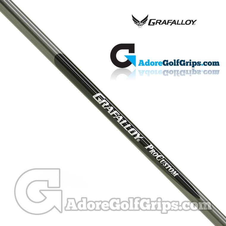 "Grafalloy ProCustom Wood Combination Shaft (68g-70g)  - 0.335"" Tip - Black / Silver"