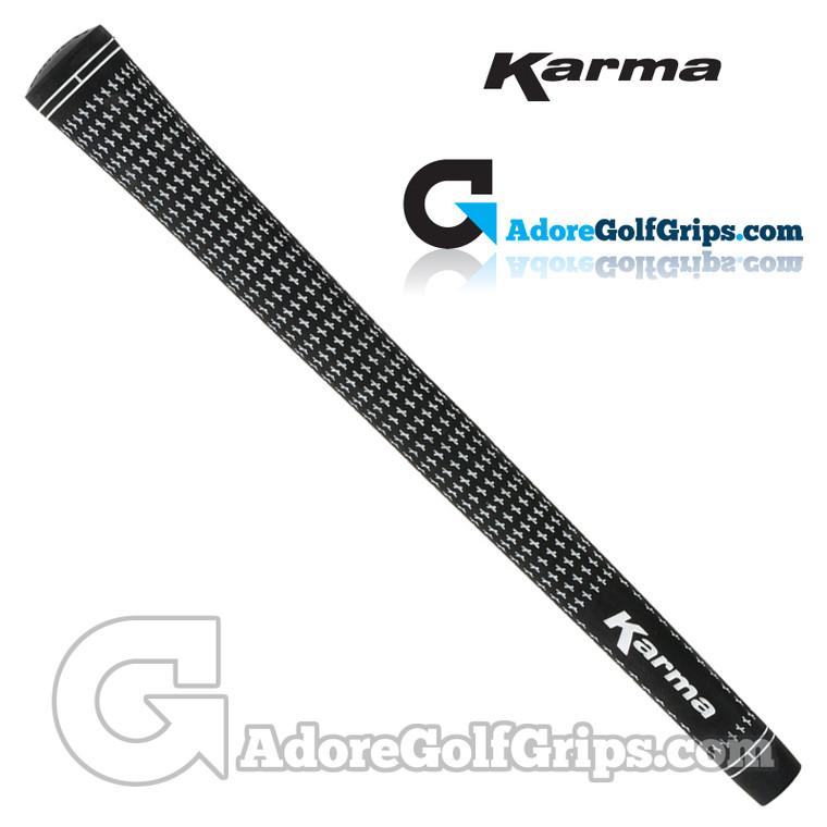 Karma Velour Standard Grips - Black / White