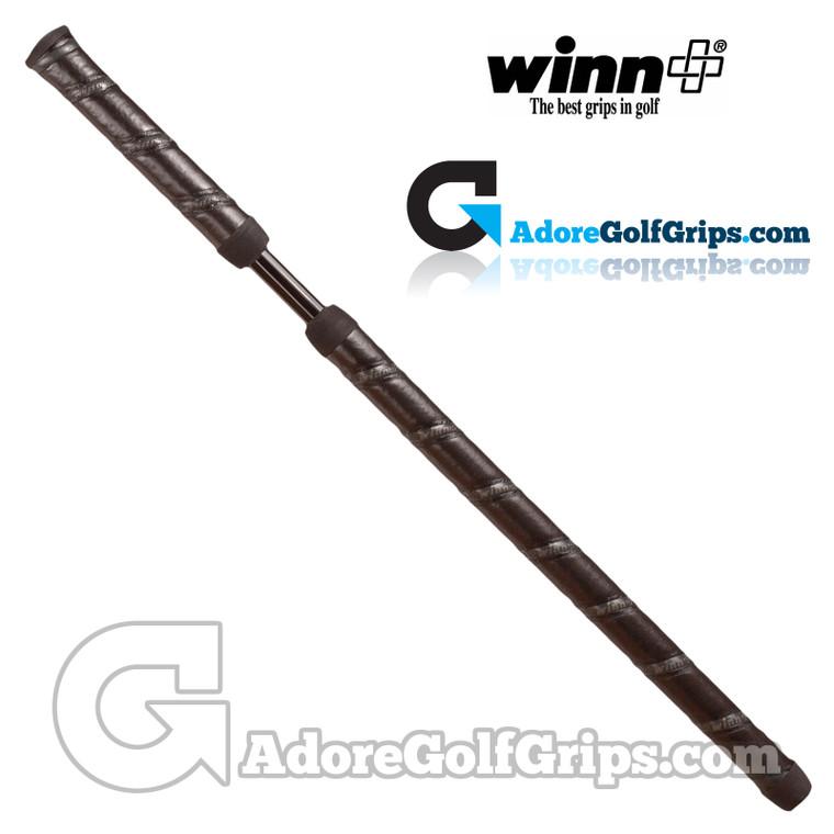 Winn 2 Piece Round Long / Belly Putter Grip - Black / Grey