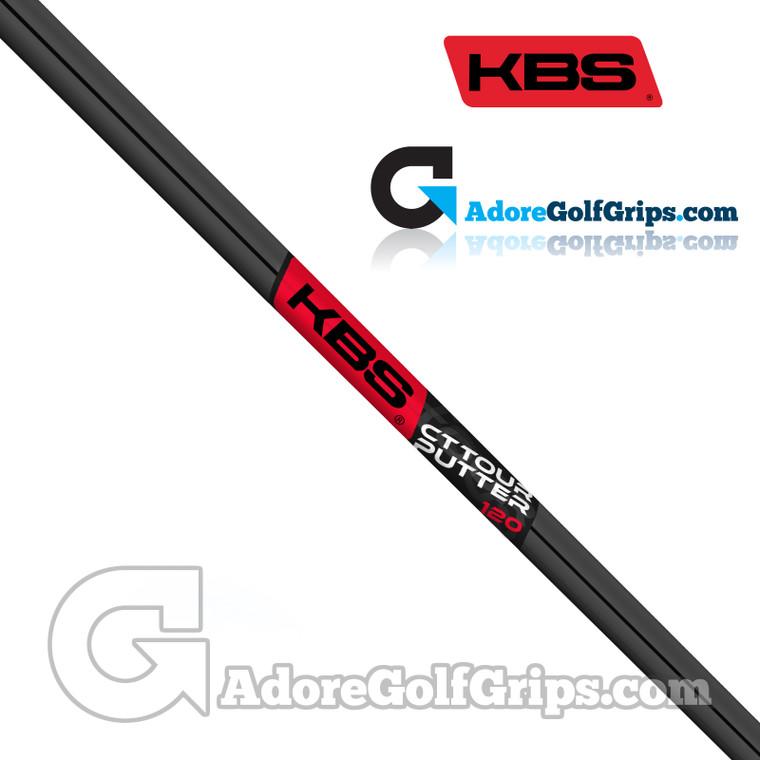 KBS CT Tour Straight Stepless Putter Shaft (120g) - Black PVD