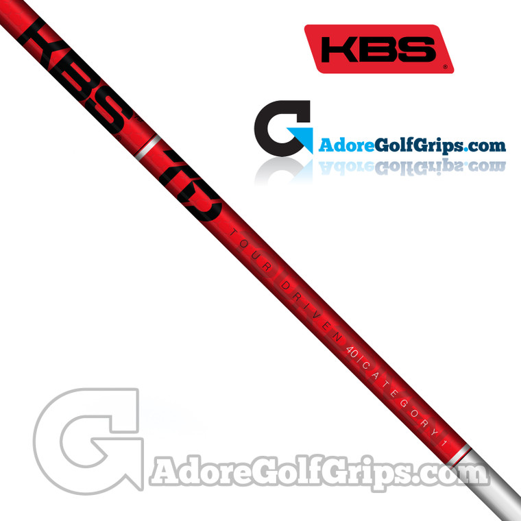 """KBS TD 40 Wood Shaft (46g-47g) - 0.338"""" Tip - White Gloss / Red"""