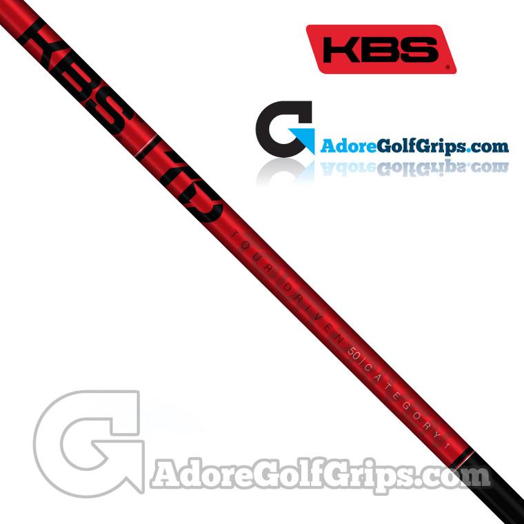 """KBS TD 50 Wood Shaft (50g) - 0.338"""" Tip - Black Gloss / Red"""