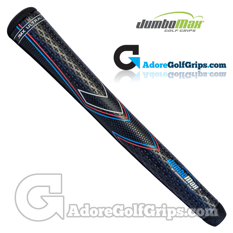 "JumboMax JMX UltraLite Series Giant (X-LARGE +3/8"") Grips - Black / Blue / Red"