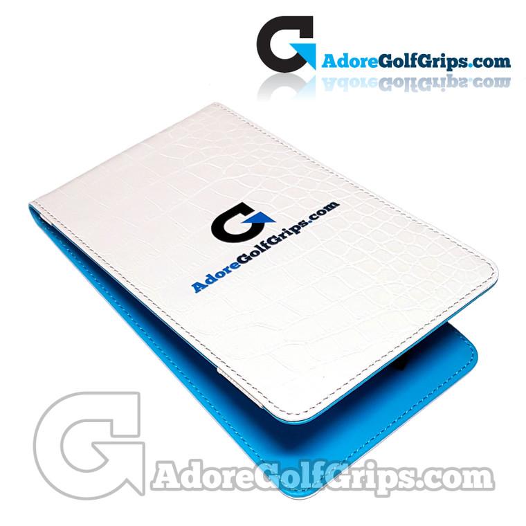 AdoreGolfGrips.com Yardage Chart / Scorecard Holder - White / Blue