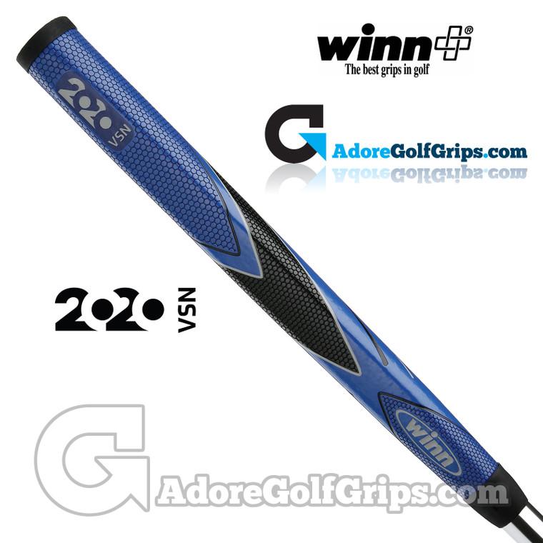 Winn 2020 VSN Midsize Pistol Putter Grip - Blue / Black