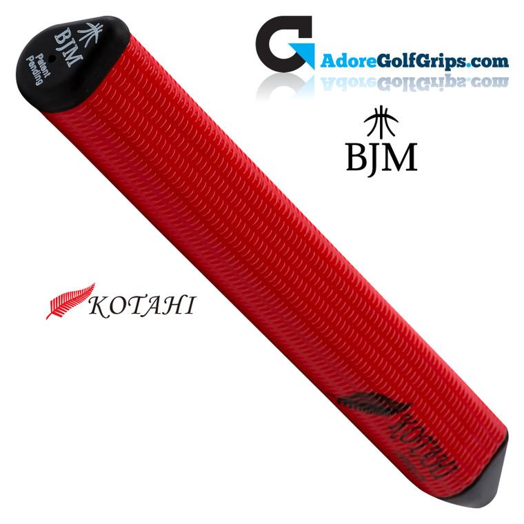 BJM Kotahi Undersize 11 Inch Jumbo Silicone Putter Grip - Red