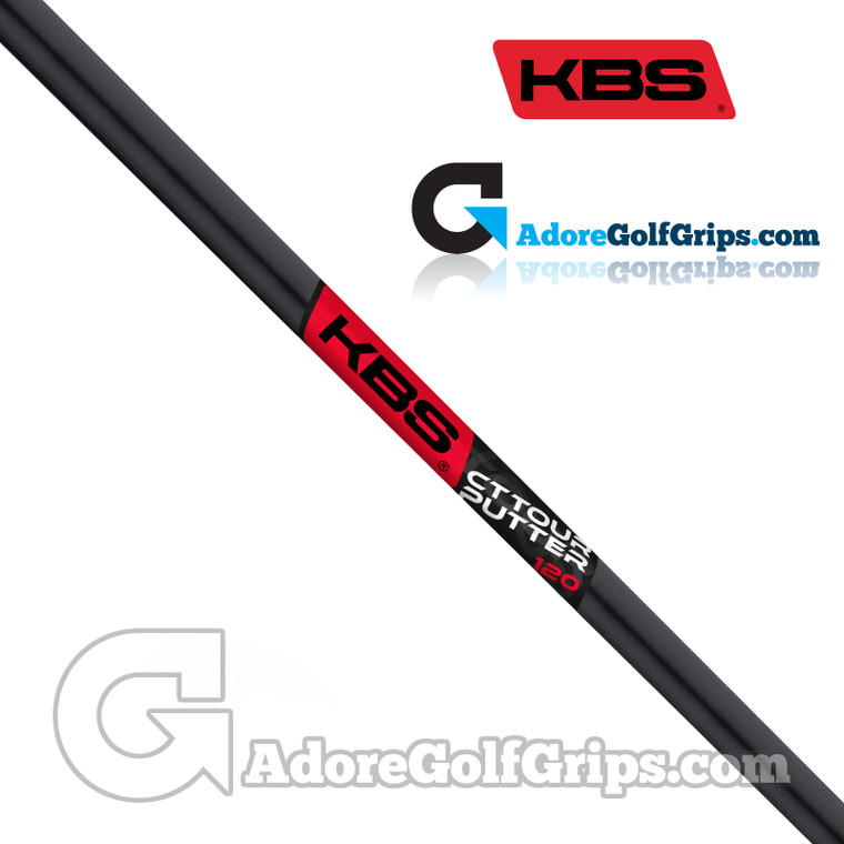 KBS CT Tour Straight Stepless Putter Shaft (124g) - Brushed Black PVD
