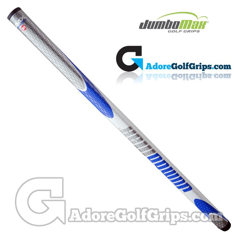 JumboMax JMX 21 Inch Long / Arm Lock Putter Grip - White / Silver / Blue