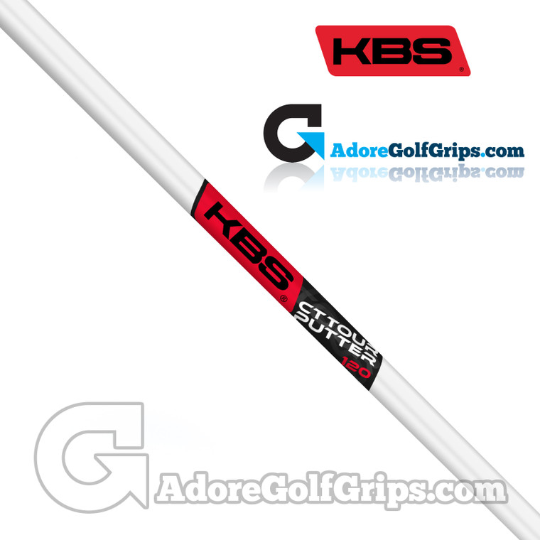 KBS CT Tour Straight Stepless Putter Shaft (124g) - White Pearl