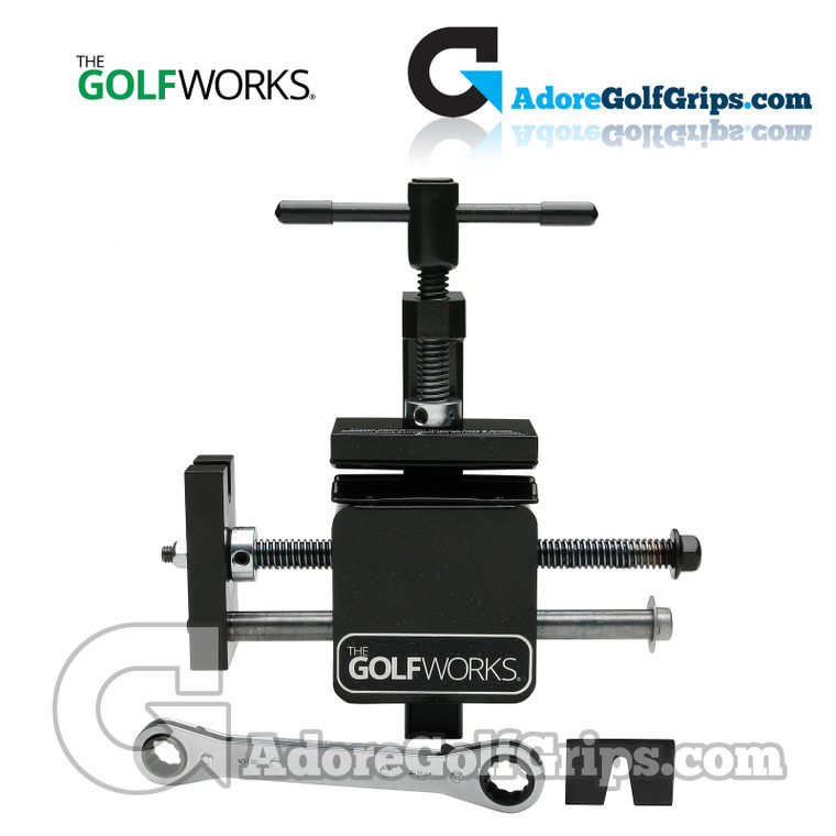 The GolfWorks By Maltby Vice Mounted Graphite Shaft Extractor