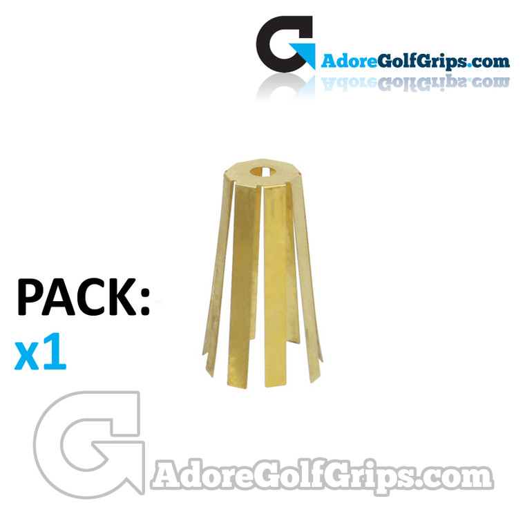 """Brass Adaptor Shims 8 Prong For Irons - Fits 0.355"""" Shafts To 0.370"""" Hosels (1 Pack)"""