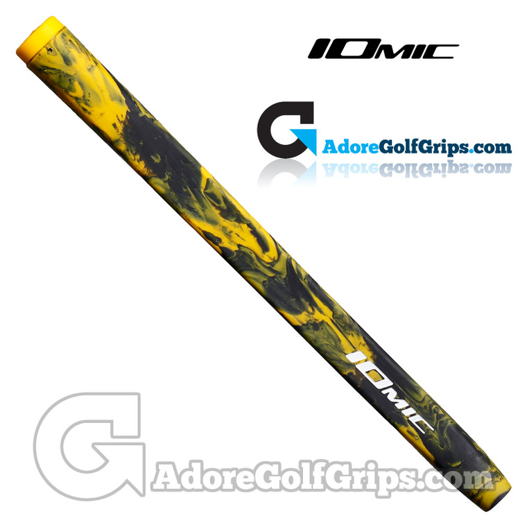 Iomic Army Pistol Putter Grip - Black / Yellow