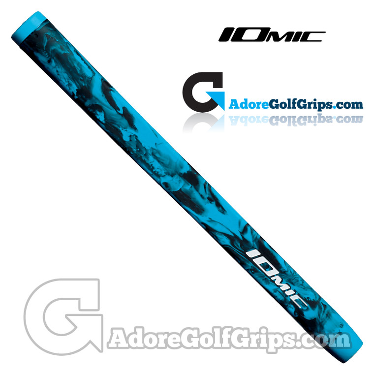 Iomic Army Pistol Putter Grip - Black / Sky Blue