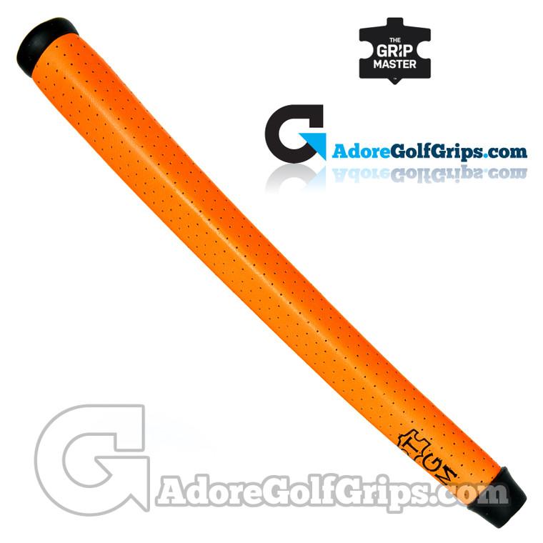 The Grip Master Cabretta Leather Tour Pistol Putter Grip - Neon Orange