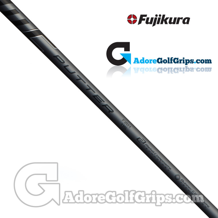"Fujikura MC Straight Stepless Putter Shaft (115g) - Firm Flex- 0.355"" Tip - Black / Grey"