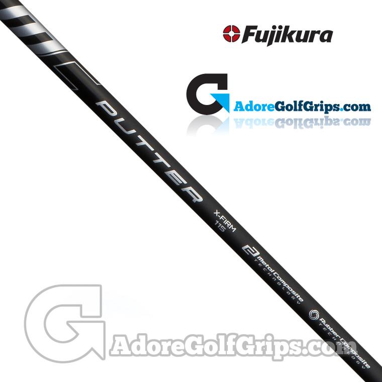 """Fujikura MC Straight Stepless Putter Shaft (115g) - X-Firm Flex - 0.355"""" Tip - Black"""