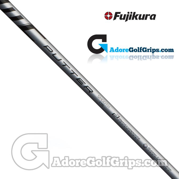 "Fujikura MC Straight Stepless Putter Shaft (115g) - Smooth Flex- 0.355"" Tip - Black / Silver"