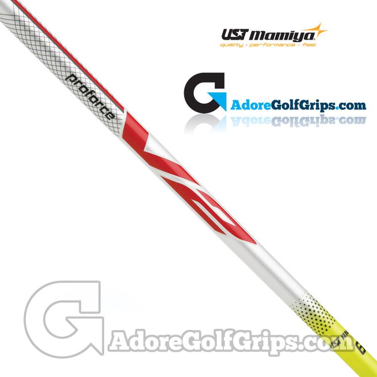 """UST Mamiya Proforce V2 55 Wood Shaft (56g-57g) - 0.335"""" Tip - Yellow / White"""