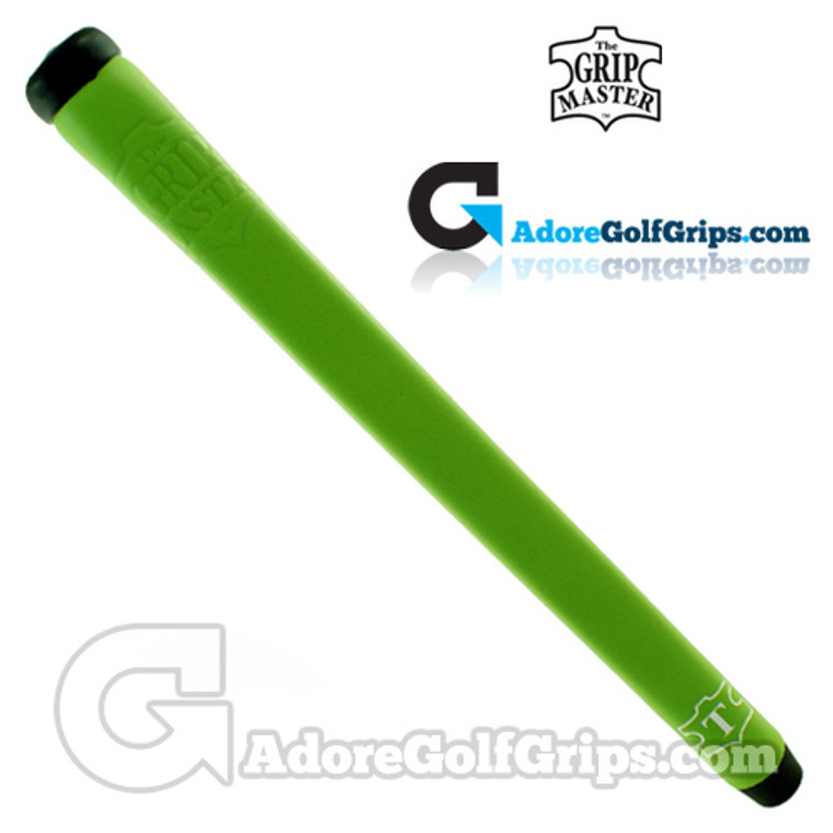 The Grip Master Montana Cow Leather Stitchback Pistol Putter Grip - Lime Green