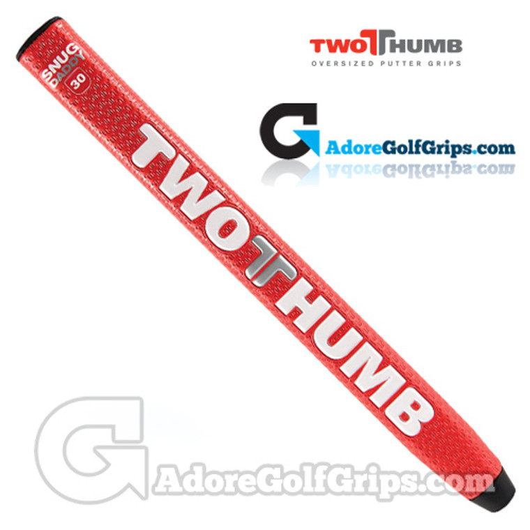 2 Thumb Snug Daddy 30 Midsize Putter Grip - Red / White / Silver