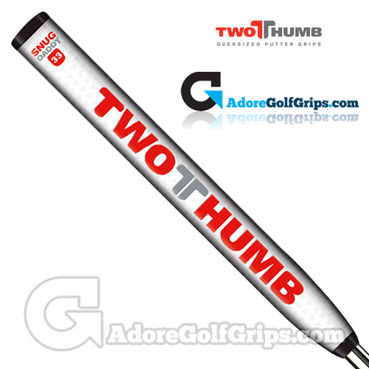 2 Thumb Snug Daddy 33 Jumbo Putter Grip - White / Red / Silver