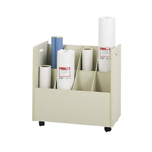Safco Mobile Roll File, 8 Compartment