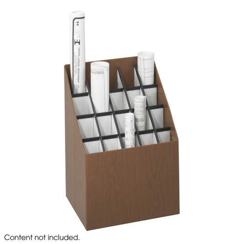 Safco Upright Roll File, 20 Compartment