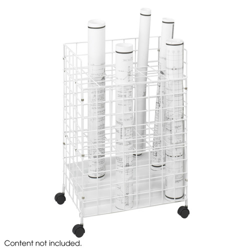 Safco Wire Roll File, 24 Compartment