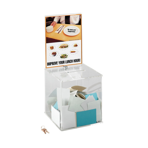 Safco Large Acrylic Collection Boxes