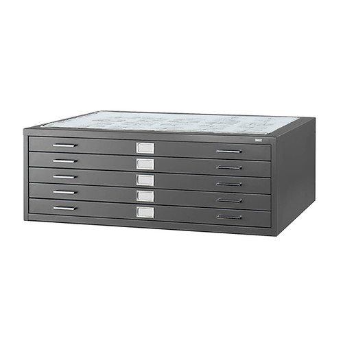 """Safco 5-Drawer Steel Flat File for 36"""" x 48"""" Documents"""