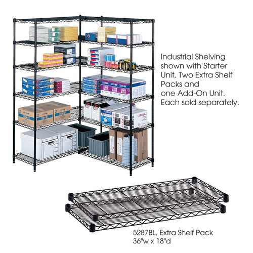 """Safco Industrial Extra Shelf Pack, 36 x 18"""""""