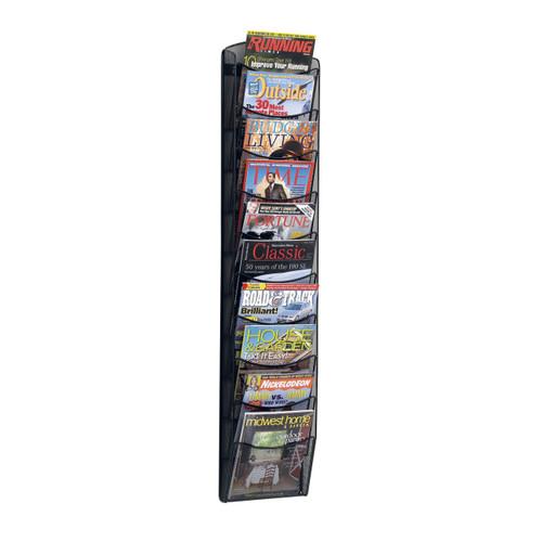 Safco 10-Pocket Onyx™ Magazine Rack
