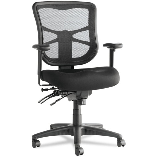 Mesh Mid-Back Multifunction Chair, Black