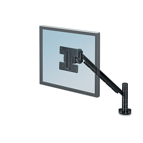Fellowes Desk-Mount Monitor Arm for Flat Panel Monitor, Black
