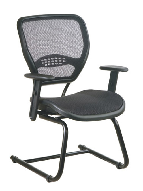 Office Star AirGrid® Seat and Back Deluxe Visitors Chair 5565