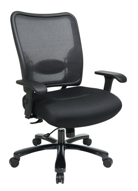 Office Star Big & Tall Double AirGrid® Back and Black Mesh Seat Ergonomic Chair 75-37A773