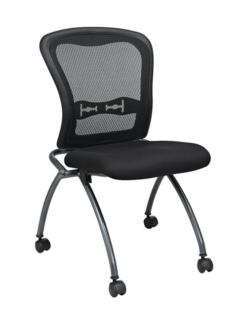 Office Star Deluxe Armless Folding Chair With ProGridBack, (2-Pack) 84220-30