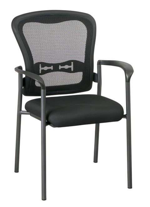 Office Star Visitors Chair with Arms and ProGridBack