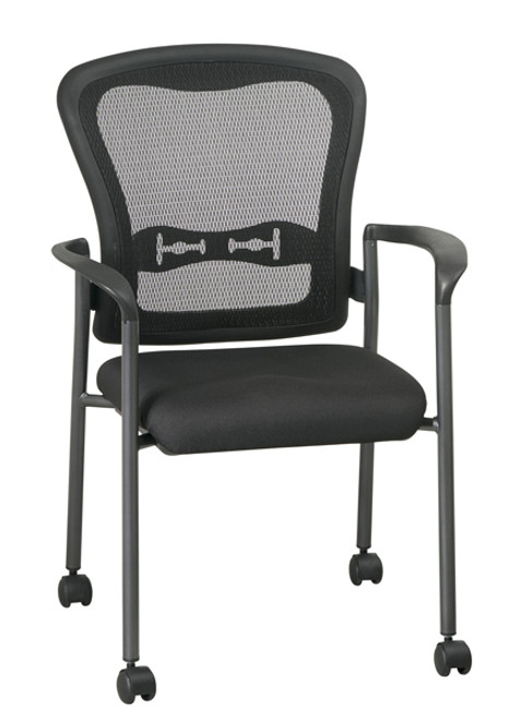 Office Star Visitors Chair with Arms and Breathable Mesh ProGrid Back 84540-30