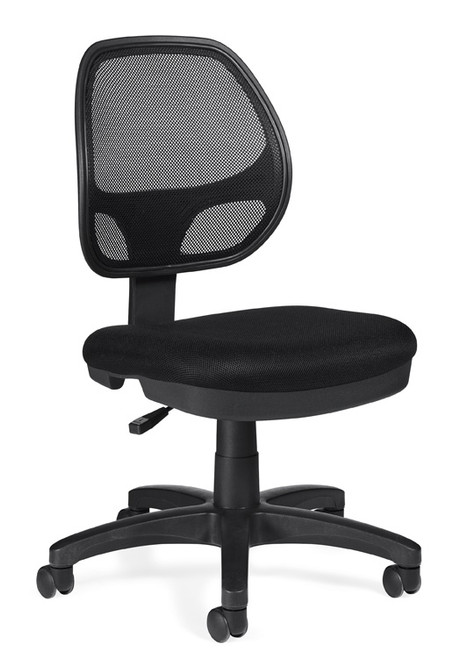 OFFICES TO GO-Mesh Seating-Armless task chair OTG11642-MS20