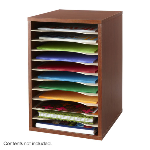 Safco Vertical Desk Top Sorter - 11 Compartment