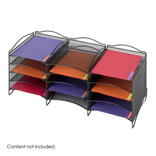 Safco Onyx 12 Compartment Mesh Literature Organizer